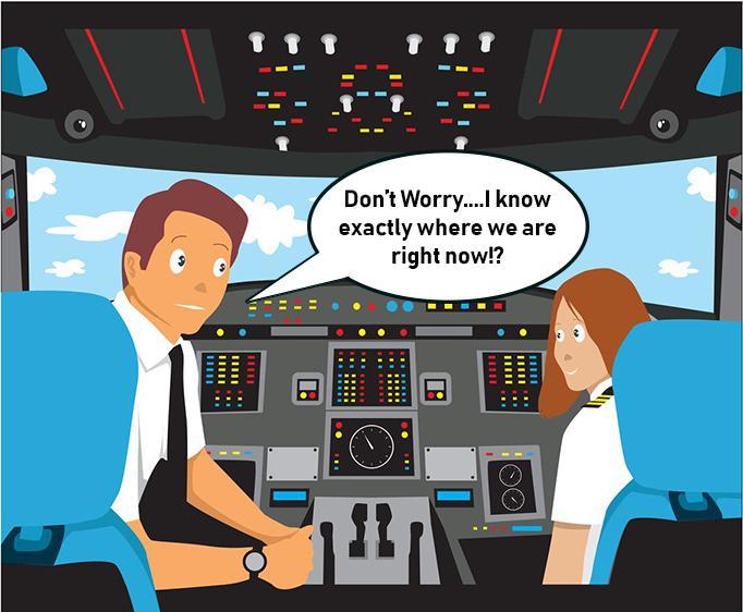 navigation airplane cockpit