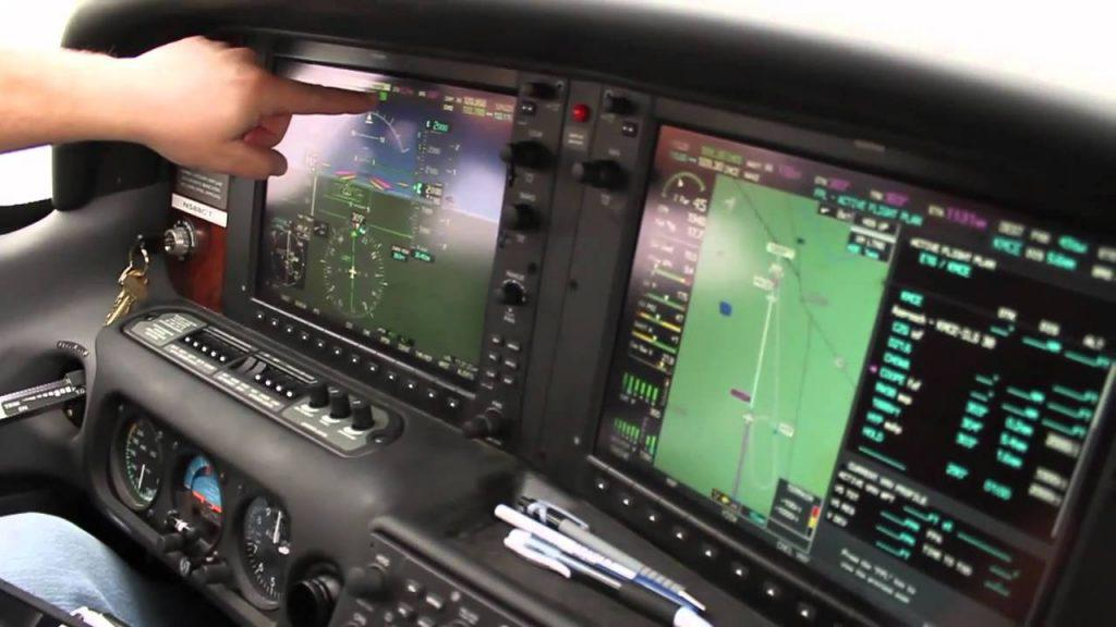 airplane gps course
