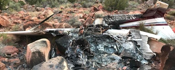 Cessna 172 Crash in Canyon